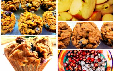 Gluten-Free Apple Berry Cinnamon Teff Muffins