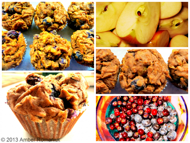 Gluten-Free Apple Berry Cinnamon Teff Muffins
