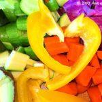 Raw Rainbow Veggie Salad