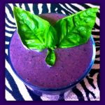 Basil Blueberry and Banana Smoothie