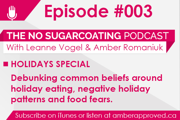 No Sugarcoating Podcast Episode #003: Holiday Eating Fears