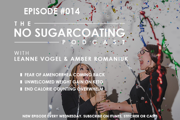 Podcast Episode #014 Unwelcomed Weight Gain, Calorie Counting Overwhelm and Keeping a Regular Cycle