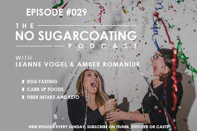 Podcast Episode #29:  Egg Fasting, Carb Up Foods, and Fiber Intake on Keto