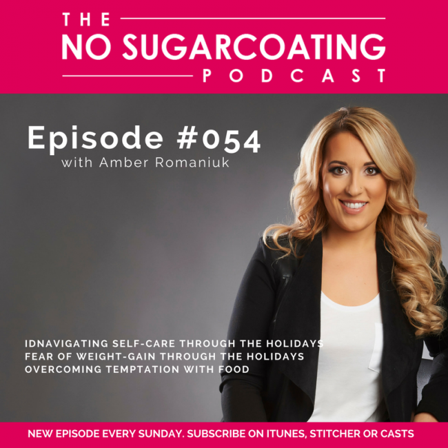 Podcast Episode #054: Navigating Self-Care Through The Holidays, Fear of Weight-Gain Through The Holidays and Overcoming Temptation with Food.