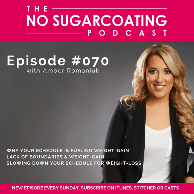 Podcast Episode #70: Why Your Schedule is Fueling Weight Gain, Lack of Boundaries & Weight Gain & Slowing Down Your Schedule for Weight Loss