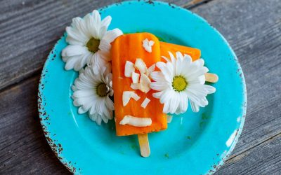 Orange & White Coconut Popsicles