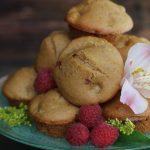 Raspberry Apple Spice Almond Muffins