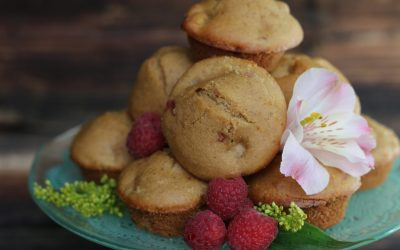 Raspberry Apple Spice Almond Muffins