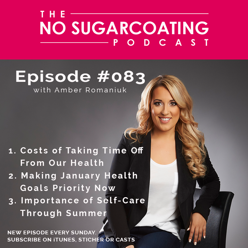 Episode 83- Costs of Taking Time Off From Our Health, Making January Health Goals Priority Now & Importance of Self-Care Through Summer