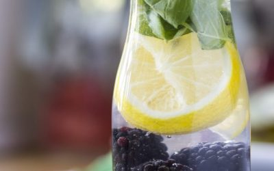 Blackberry Lemon Basil Infused Water