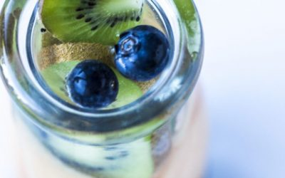 Kiwi Cantaloupe Blueberry Infused Water