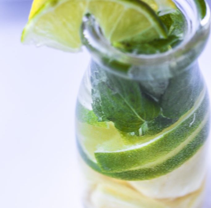 Pineapple Lime Mint Infused Water
