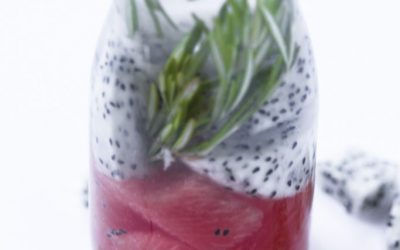 Watermelon Rosemary Dragon Fruit Infused Water