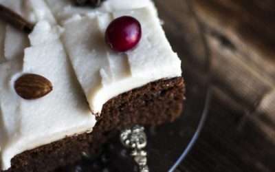 Gingerbread Cake with Coconut Vanilla Icing