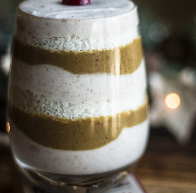 Gingerbread Egg Nog Parfait