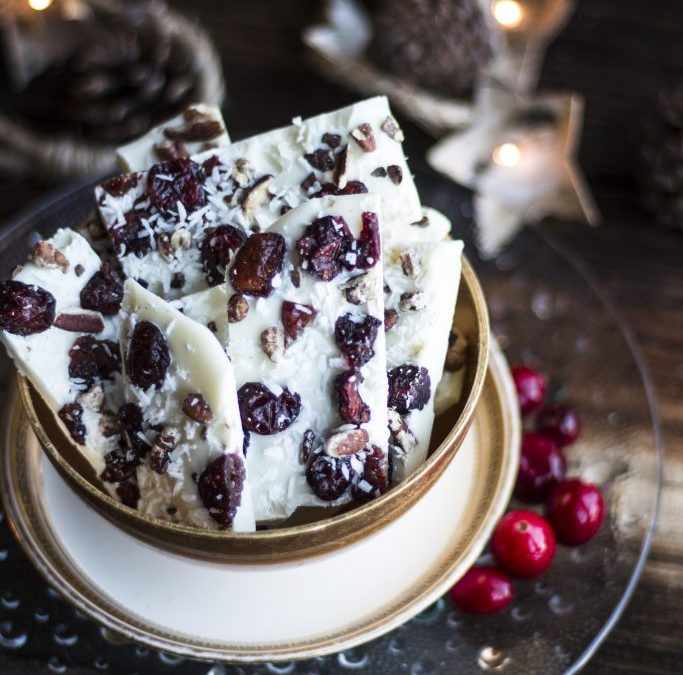 Festive White Chocolate Bark