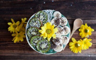 Green Kiwi Matcha Spinach Pineapple Smoothie Bowl