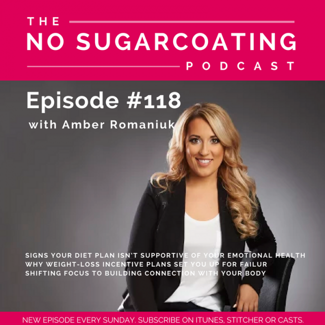 Episode #118 Signs Your Diet Plan Isn't Supportive of Your Emotional Health, Why Weight-Loss Incentive Plans Set You Up For Failure & Shifting Focus To Building Connection With Your Body