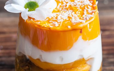Orange Mango Peach Parfait
