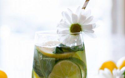 Lemon Lime Basil Infused Water