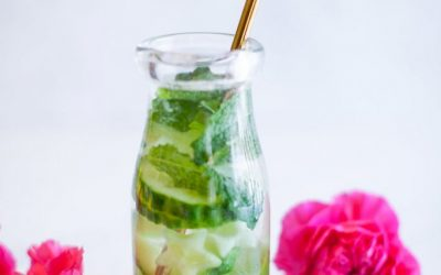 Lime Mint Cucumber Infused Water