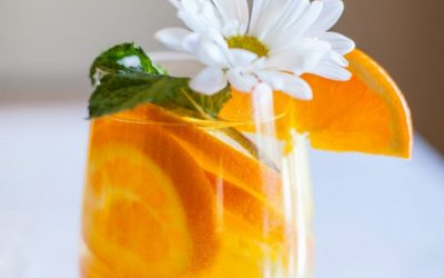 Orange Pineapple Infused Water