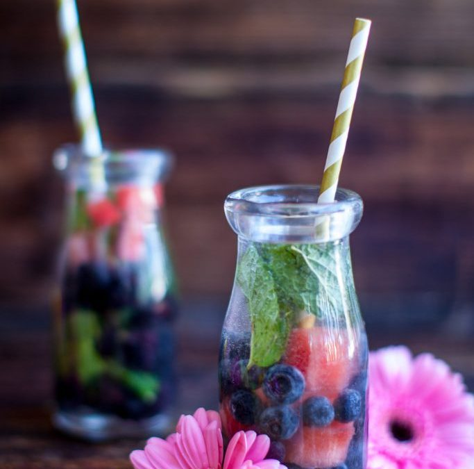 Watermelon Blueberry Infused Water