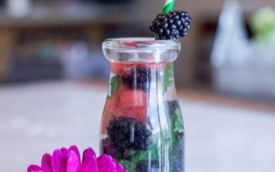 Blackberry Mint Infused Water