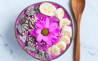 Banana Vanilla Mango Pitaya Smoothie Bowl