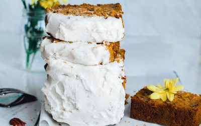 Carrot Cake with Coconut Vanilla Icing