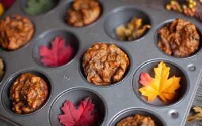 Chocolate Chip Pumpkin Oat Muffins