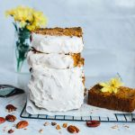 Carrot Cake Loaf with Coconut Vanilla Icing