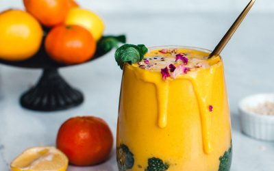 Mint Matcha Chia – Pinapple Banana Mango Smoothie