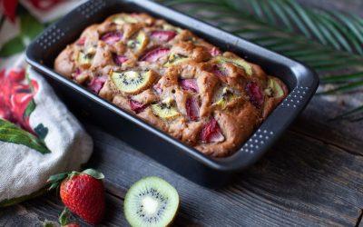 Kiwi Banana Strawberry Loaf