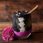 Goji Pitaya Chia with Banana Charcoal Smoothie Recipe