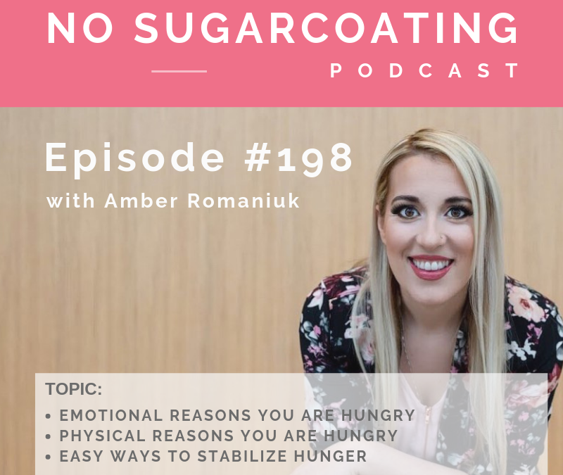 Episode #198 Emotional Reasons You are Hungry, Physical Reasons You are Hungry and Easy Ways to Stabilize Hunger