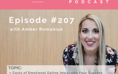 Episode #207 Costs of Emotional Eating Impacting Your Success, Costs of Emotional Eating and Your Relationships and Building Awareness on the Impacts of Emotional Eating