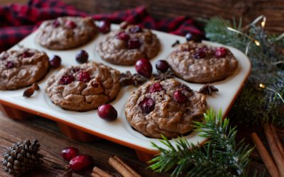 Apple Cranberry Cinnamon Muffins
