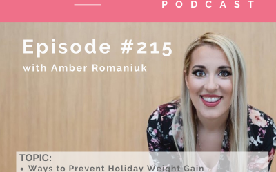 Episode #215 Ways to Prevent Holiday Weight Gain, Overbooked Schedules Fueling Emotional Eating and Why You're Unaware You Emotionally Eat