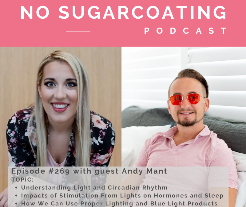 Episode #269 Understanding Light and Circadian Rhythm, Impacts of Stimulation From Lights on Hormones and Sleep and How We Can Use Proper Lighting and Blue Light Products with guest Andy Mant