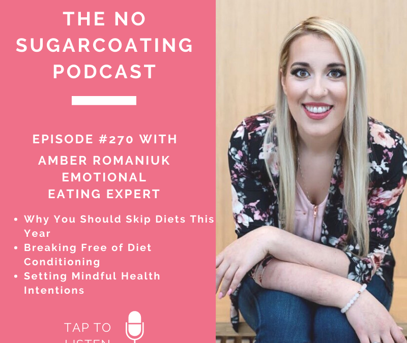 Episode #270 Why You Should Skip Diets This Year. Breaking Free of Diet Conditioning and Setting Mindful Health Intentions